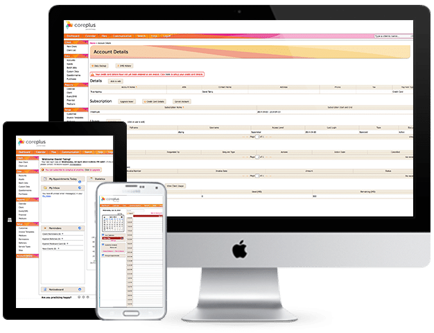 coreplus - online practice management software - access anywhere, any time