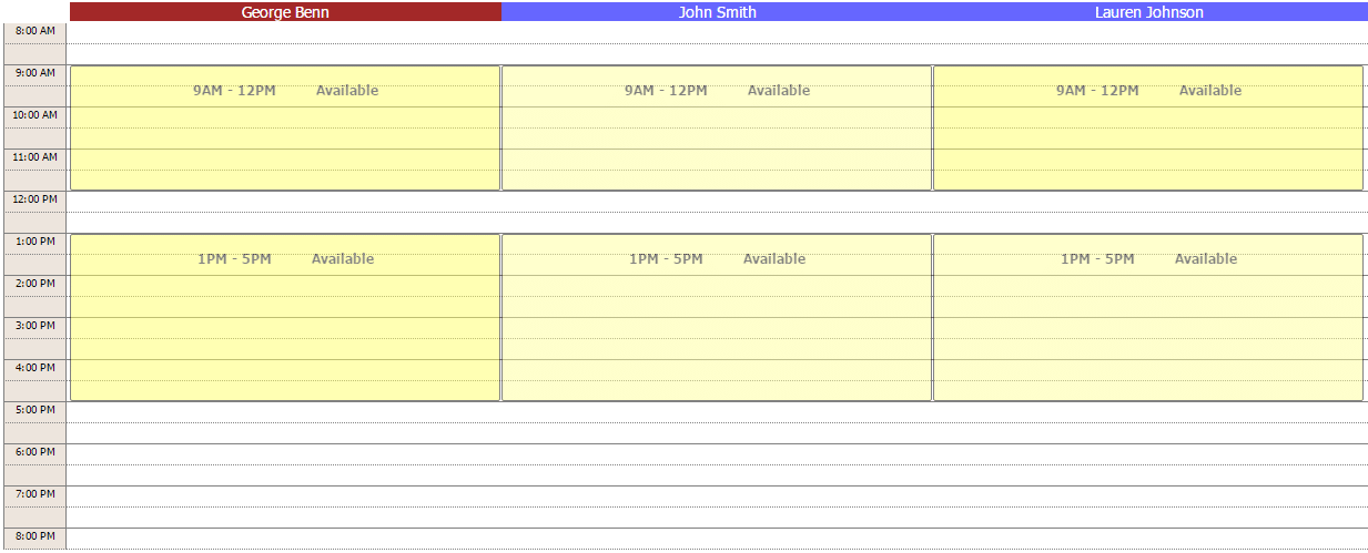 Practitioner schedules