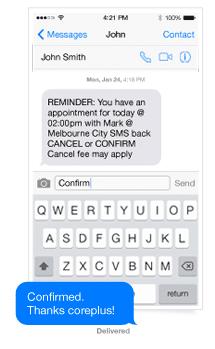 coreplus - calendar sms reminder
